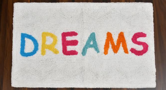 Julienne Bath Mat (White Dream) by Urban Ladder - Cross View Design 1 - 319771
