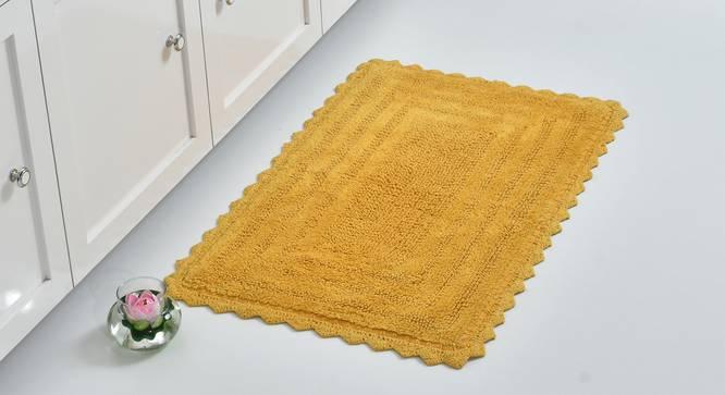 Praile Bath Mat (Yellow) by Urban Ladder - Front View Design 1 - 319815