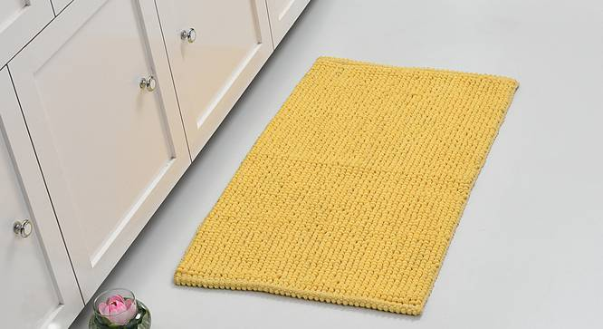 Quink Bath Mat (Yellow) by Urban Ladder - Front View Design 1 - 319835