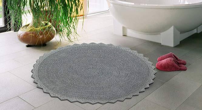 Riwana Bath Mat (Light Grey) by Urban Ladder - Front View Design 1 - 319852