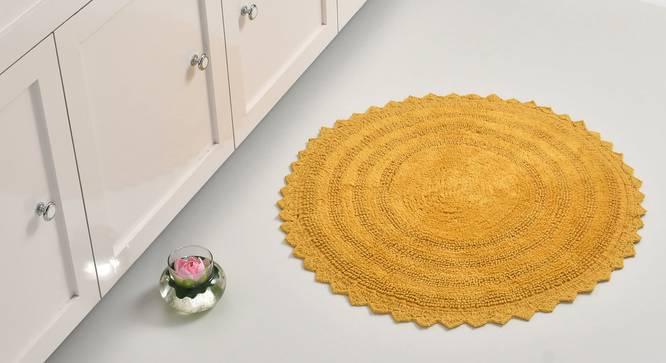 Riwana Bath Mat (Mustard) by Urban Ladder - Front View Design 1 - 319856