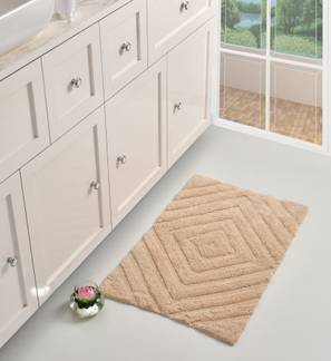 Roxana Bath Mat (Beige) by Urban Ladder - Front View Design 1 - 319874