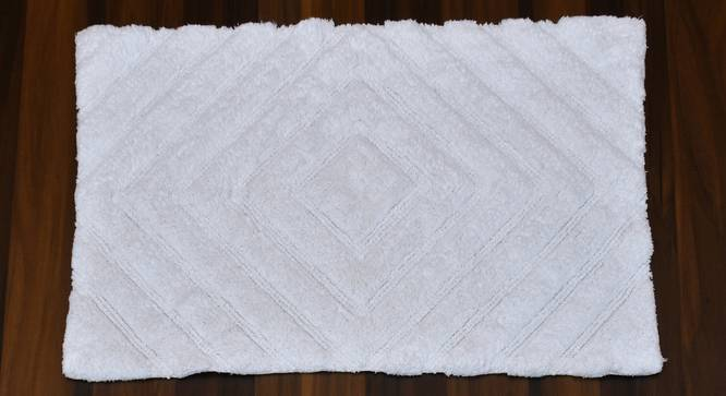 Roxana Bath Mat (White) by Urban Ladder - Cross View Design 1 - 319890