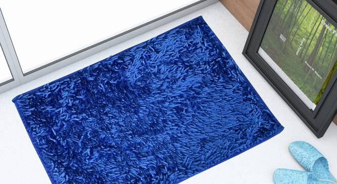Tresmont Bath Mat (Blue) by Urban Ladder - Front View Design 1 - 319939