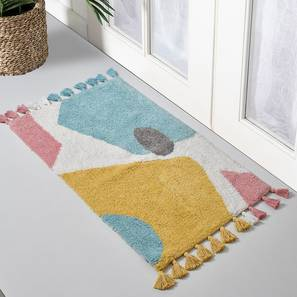 Ursula Bath Mat (Aqua) by Urban Ladder - Front View Design 1 - 319959