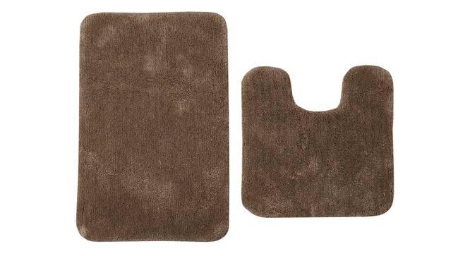 Worla Bath Mat - Set of 2 (Brown) by Urban Ladder - Cross View Design 1 - 319970