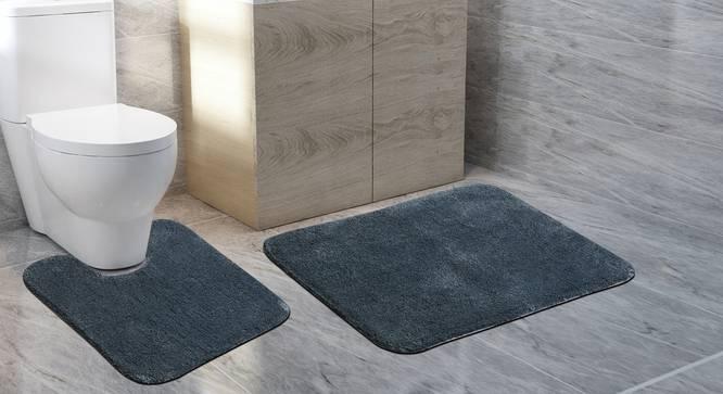 Worla Bath Mat - Set of 2 (Grey) by Urban Ladder - Front View Design 1 - 319973