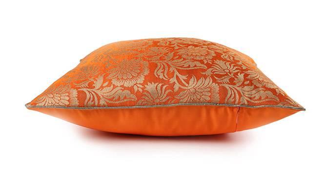 "Ryta Cushion Cover - Set of 2 (Orange, 41 x 41 cm  (16"" X 16"") Cushion Size) by Urban Ladder - Design 1 Top View - 319997"