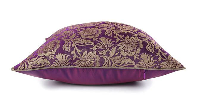 """Ryta Cushion Cover - Set of 2 (41 x 41 cm  (16"""" X 16"""") Cushion Size, Violet) by Urban Ladder - Design 1 Top View - 320012"""