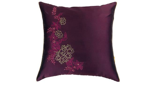 Galen Cushion Cover - Set of 2 (Wine) by Urban Ladder - Design 1 Details - 320026