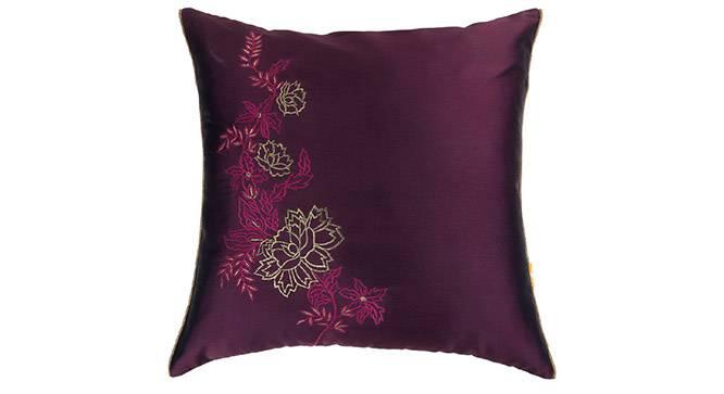 "Galen Cushion Cover - Set of 3 (41 x 41 cm  (16"" X 16"") Cushion Size, Wine) by Urban Ladder - Design 1 Details - 320031"