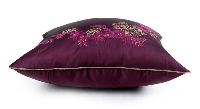 "Galen Cushion Cover - Set of 3 (41 x 41 cm  (16"" X 16"") Cushion Size, Wine) by Urban Ladder - Design 1 Top View - 320032"
