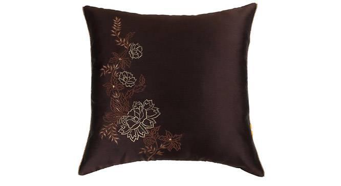 "Bria Cushion Cover - Set of 2 (Brown, 41 x 41 cm  (16"" X 16"") Cushion Size) by Urban Ladder - Design 1 Details - 320036"