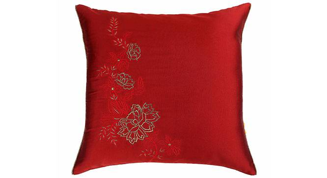 "Palus Cushion Cover - Set of 3 (Red, 41 x 41 cm  (16"" X 16"") Cushion Size) by Urban Ladder - Design 1 Details - 320051"