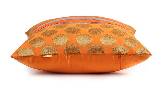 "Buck Cushion Cover (Orange, 41 x 41 cm  (16"" X 16"") Cushion Size) by Urban Ladder - Design 1 Top View - 320057"