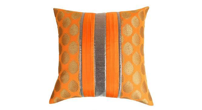 "Buck Cushion Cover - Set of 2 (Orange, 41 x 41 cm  (16"" X 16"") Cushion Size) by Urban Ladder - Design 1 Details - 320061"