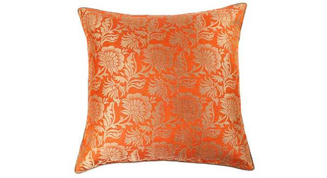 "Ryta Cushion Cover - Set of 3 (Orange, 41 x 41 cm  (16"" X 16"") Cushion Size) by Urban Ladder - Design 1 Details - 320066"