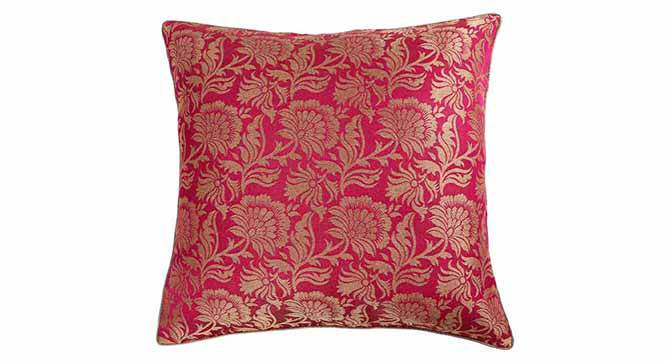 "Ryta Cushion Cover - Set of 3 (41 x 41 cm  (16"" X 16"") Cushion Size, Fuchsia) by Urban Ladder - Design 1 Details - 320071"