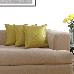 Ryta cushion cover   set of 3 lime green viscose lp