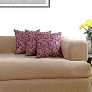 "Ryta Cushion Cover - Set of 3 (41 x 41 cm  (16"" X 16"") Cushion Size, Violet) by Urban Ladder - Design 1 Details - 320081"
