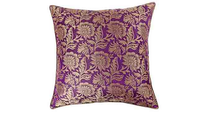 "Ryta Cushion Cover - Set of 3 (41 x 41 cm  (16"" X 16"") Cushion Size, Violet) by Urban Ladder - Design 1 Details - 320081"