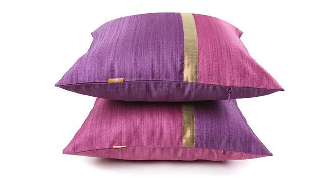 "Tallus Cushion Cover - Set of 2 (41 x 41 cm  (16"" X 16"") Cushion Size, Mauve) by Urban Ladder - Design 1 Details - 320094"