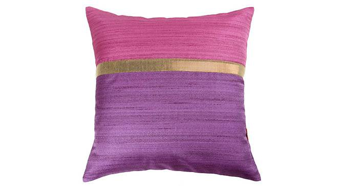 "Tallus Cushion Cover - Set of 2 (41 x 41 cm  (16"" X 16"") Cushion Size, Mauve) by Urban Ladder - Design 1 Top View - 320095"
