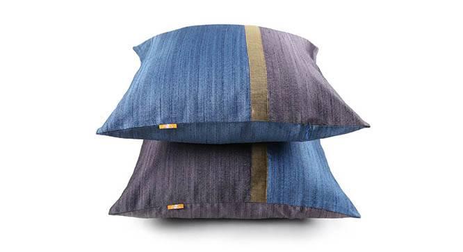 "Tallus Cushion Cover - Set of 2 (Blue, 41 x 41 cm  (16"" X 16"") Cushion Size) by Urban Ladder - Design 1 Details - 320102"