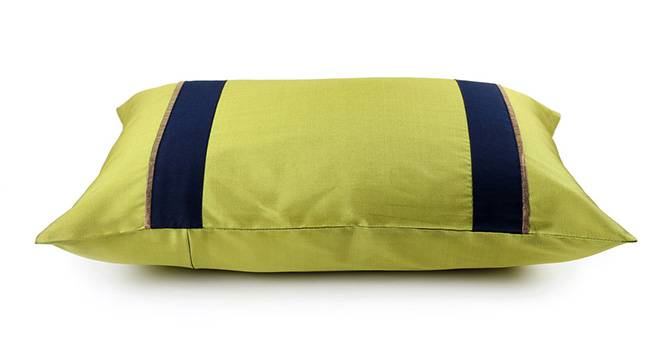 """Clover Cushion Cover - Set of 3 (Lime Green, 30 x 46 cm  (12"""" X 18"""") Cushion Size) by Urban Ladder - Design 1 Top View - 320137"""