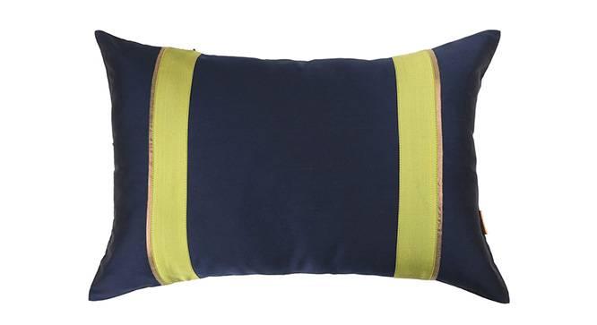 "Clover Cushion Cover - Set of 3 (30 x 46 cm  (12"" X 18"") Cushion Size, Navy Blue) by Urban Ladder - Design 1 Details - 320146"