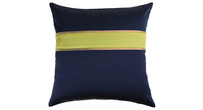 "Rune Cushion Cover - Set of 3 (41 x 41 cm  (16"" X 16"") Cushion Size, Navy Blue) by Urban Ladder - Design 1 Details - 320220"