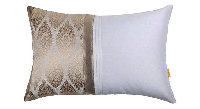 "Walten Cushion Cover - Set of 2 (30 x 46 cm  (12"" X 18"") Cushion Size, Off White) by Urban Ladder - Design 1 Details - 320250"