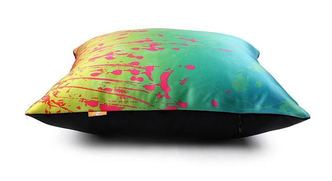 "Enver Cushion Cover - Set of 3 (Teal, 41 x 41 cm  (16"" X 16"") Cushion Size) by Urban Ladder - Design 1 Top View - 320271"