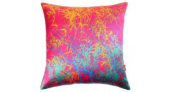 """Trinity Cushion Cover - Set of 3 (41 x 41 cm  (16"""" X 16"""") Cushion Size, Fuchsia) by Urban Ladder - Design 1 Details - 320290"""