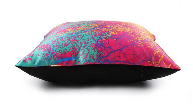 "Trinity Cushion Cover - Set of 3 (41 x 41 cm  (16"" X 16"") Cushion Size, Fuchsia) by Urban Ladder - Design 1 Top View - 320291"