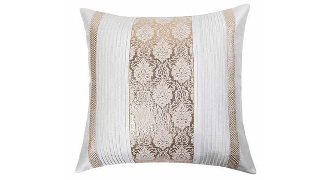"Riddick Cushion Cover (41 x 41 cm  (16"" X 16"") Cushion Size, Off White) by Urban Ladder - Design 1 Details - 320355"
