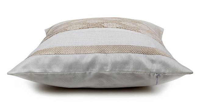 "Riddick Cushion Cover (41 x 41 cm  (16"" X 16"") Cushion Size, Off White) by Urban Ladder - Design 1 Top View - 320356"