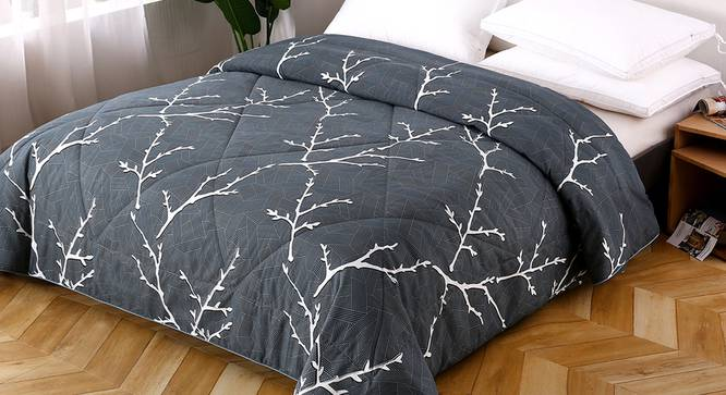 Aviva Comforter (Black, Double Size) by Urban Ladder - Design 1 Top View - 320363