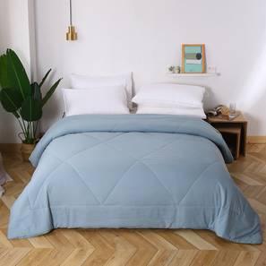 Bernad comforter sky blue solid double lp