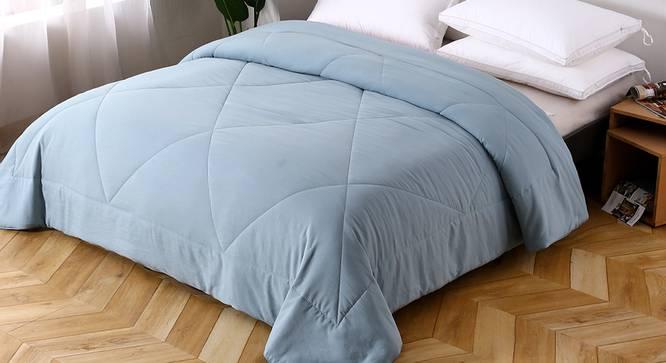 Bernad Comforter (Sky Blue, Double Size) by Urban Ladder - Design 1 Top View - 320369