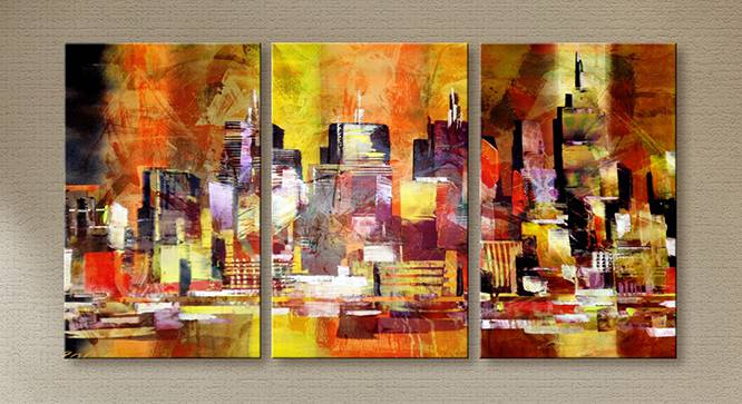 Tuva Wall Art-Set of 3 by Urban Ladder - Front View Design 1 - 320435