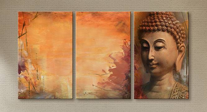 Selma Wall Art-Set of 3 (Light Brown) by Urban Ladder - Front View Design 1 - 320440