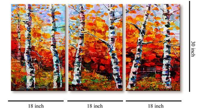 Pairin Wall Art-Set of 3 by Urban Ladder - Cross View Design 1 - 320444