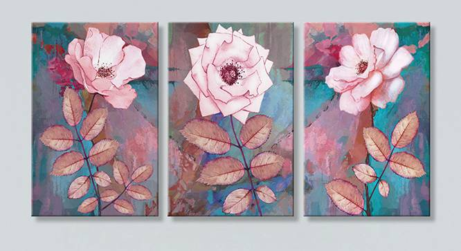 Oda Wall Art-Set of 3 (Pink) by Urban Ladder - Front View Design 1 - 320461