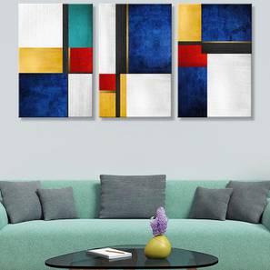 Strella Wall Art-Set of 3 (Blue) by Urban Ladder - Design 1 - 320472