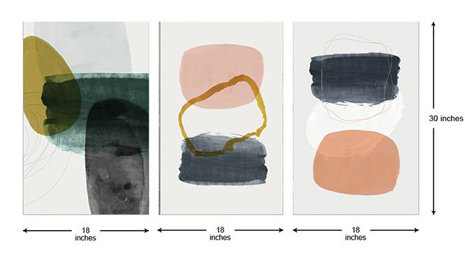 Blight Wall Art-Set of 3 (White) by Urban Ladder - Cross View Design 1 - 320515