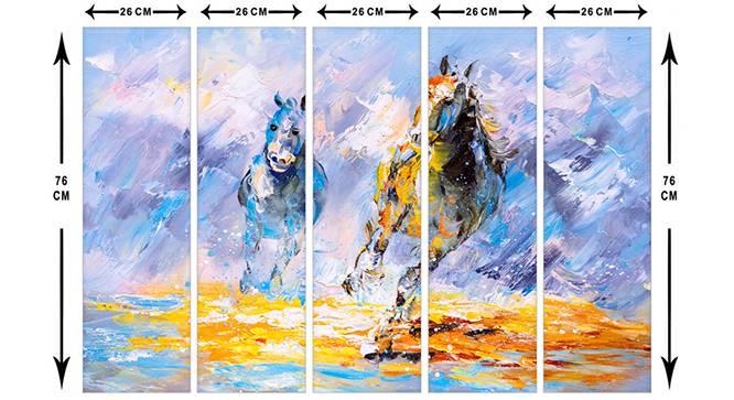 Remana Wall Art-Set of 5 (Blue) by Urban Ladder - Cross View Design 1 - 320524