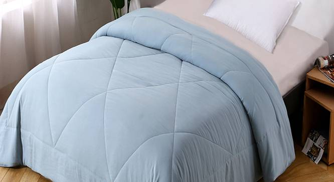 Cordelia Comforter (Sky Blue, Single Size) by Urban Ladder - Design 1 Top View - 320631