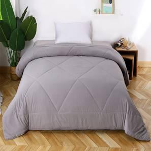 Delilah Comforter (Grey, Single Size) by Urban Ladder - Design 1 Details - 320648