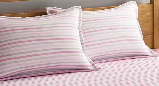 Rosa Bedsheet Set (Pink, Double Size) by Urban Ladder - Design 1 Top View - 320670
